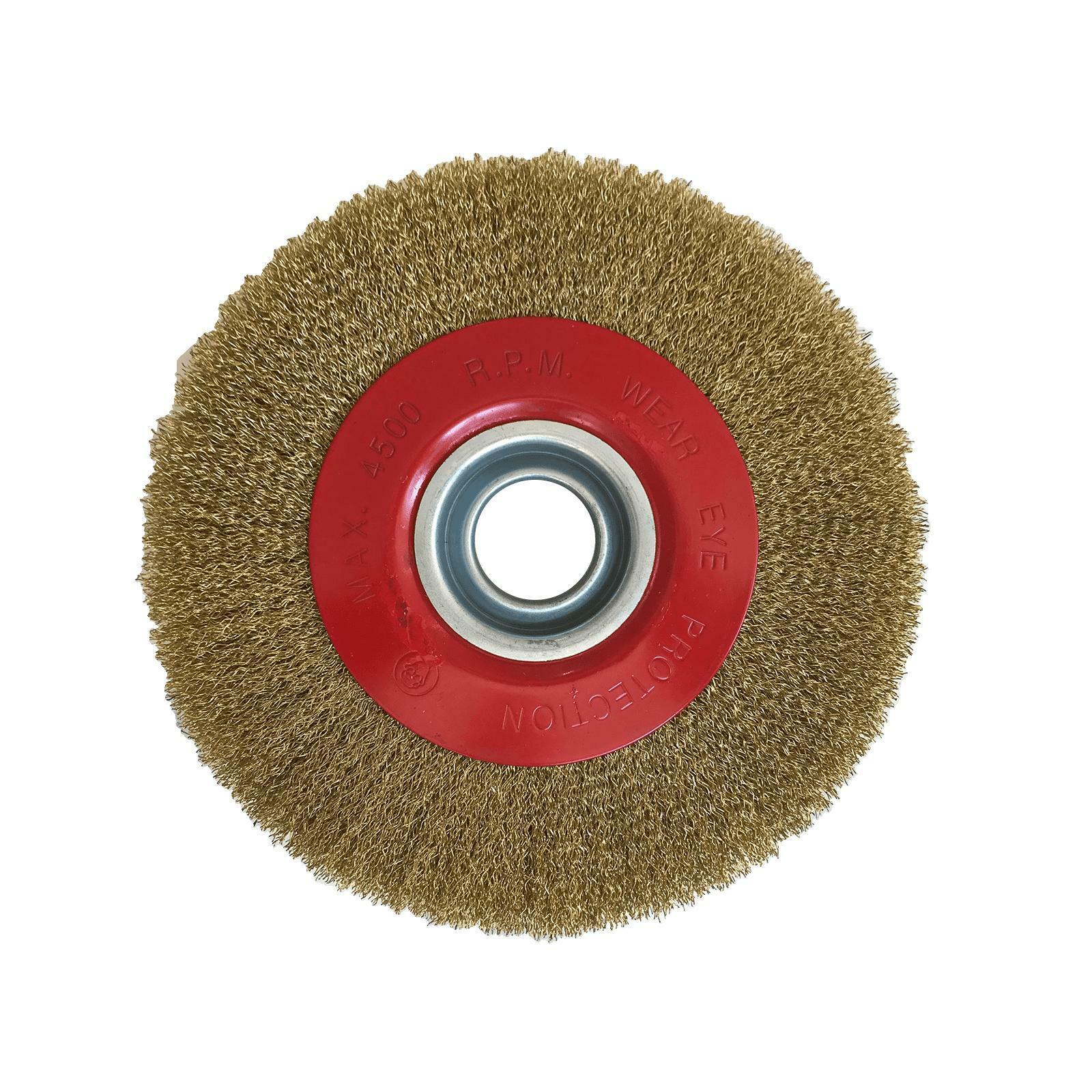 valex spazzola pulitrice in ottone diametro 200mm per mola valex