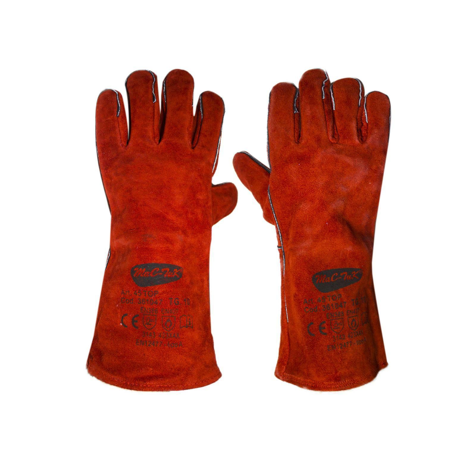 bracaglia guanti ignifughi certificati da saldatore in cuoio misura 10 brixo