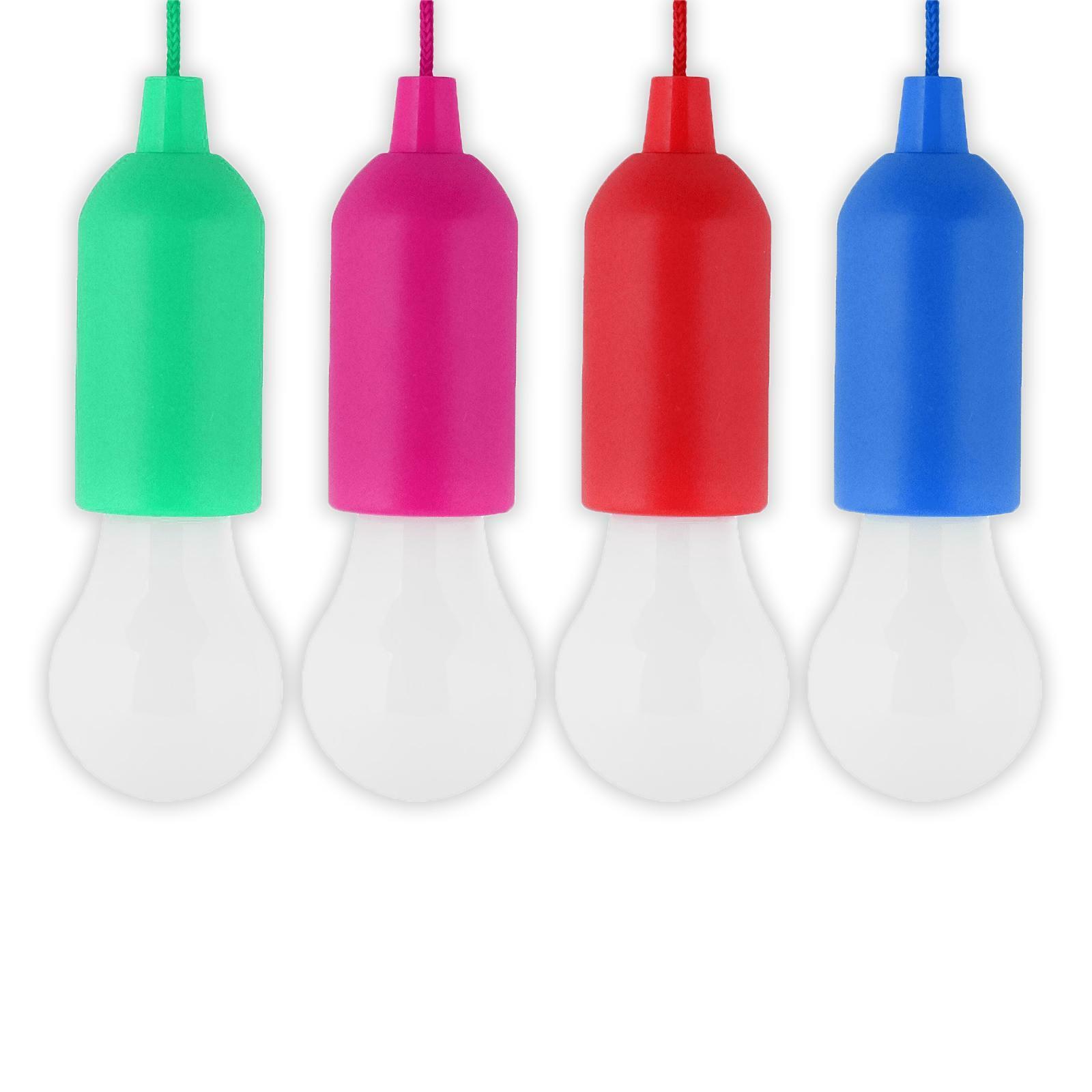 bierrestore lampada a led click clack con filo appendibile a batteria kit 4 pezzi
