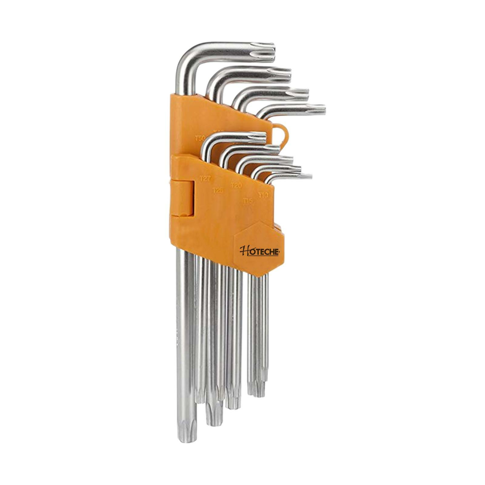 oxford chiavi torx 9 pezzi t-10 / t-50 cromo vanadio hoteche