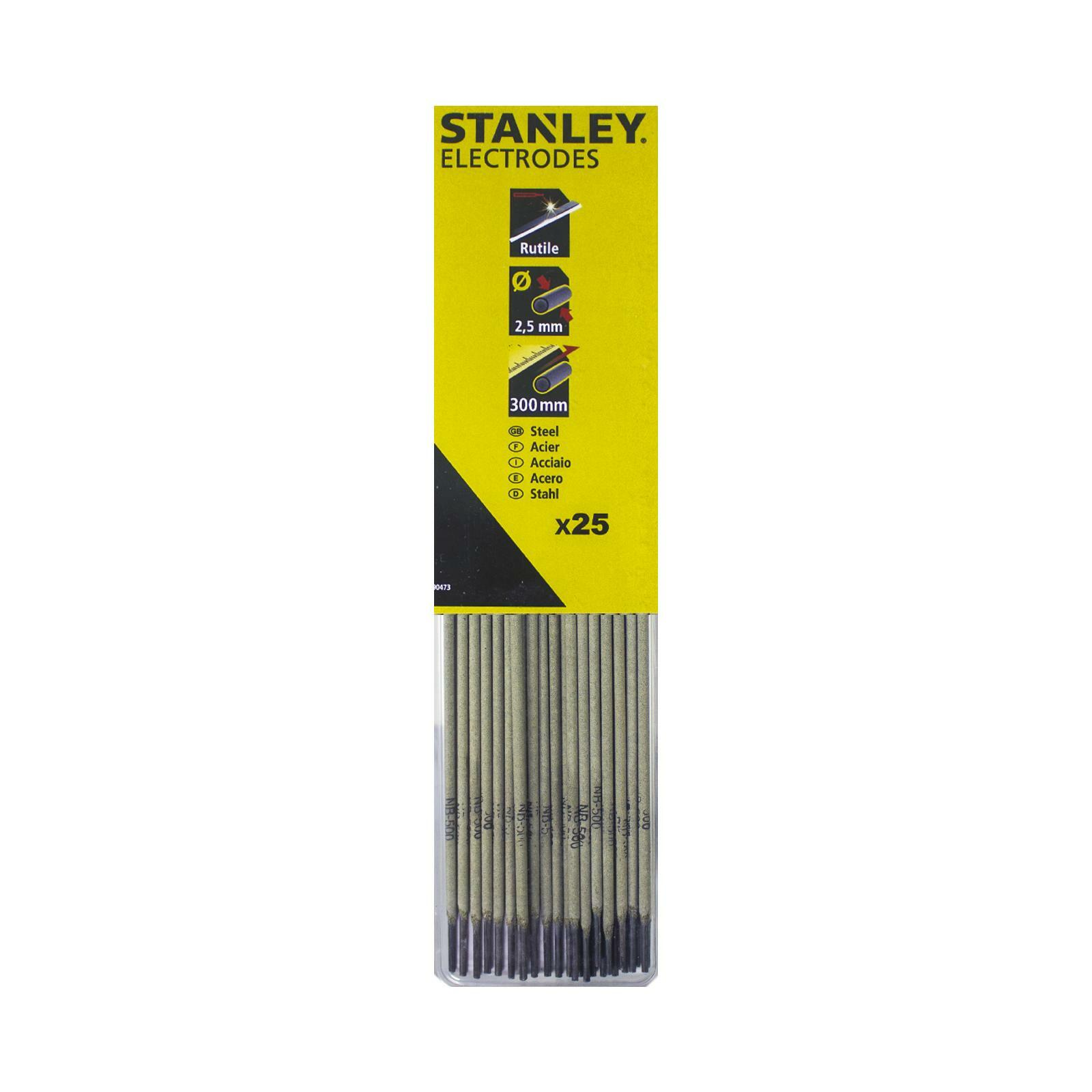 stanley elettrodi per saldatrice hbr 2,5x300 25 pezzi stanley