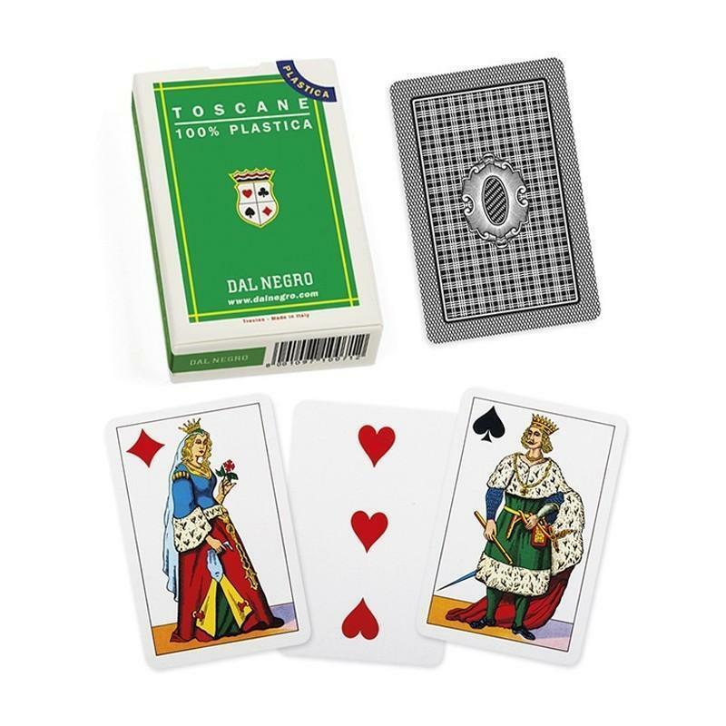 dal negro dal negro carte da gioco toscane verdi plastica