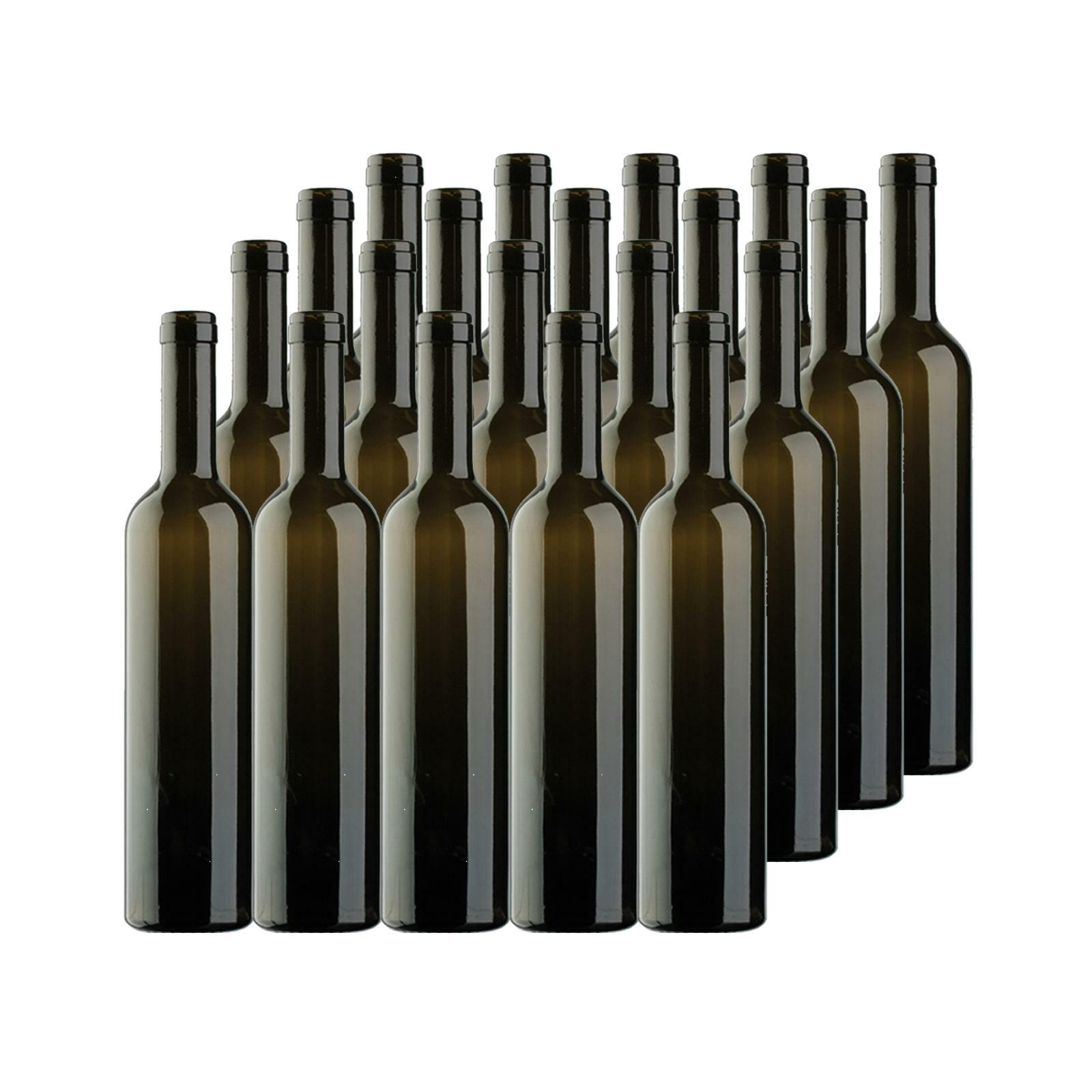 bierre store bottiglia in vetro bordolese per vino 750ml x 20pz