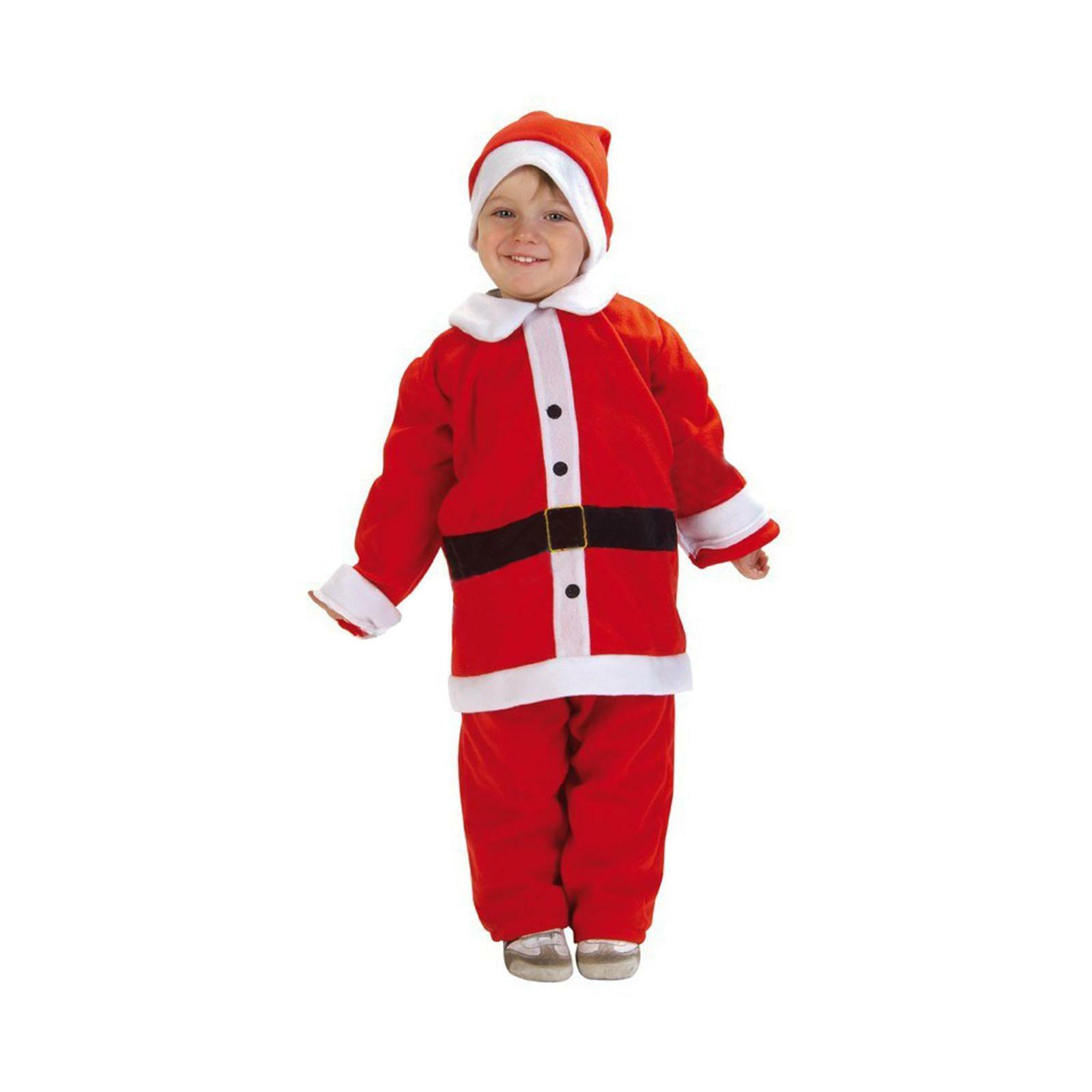 bracaglia costume da babbo natale per bambini 1-2 anni