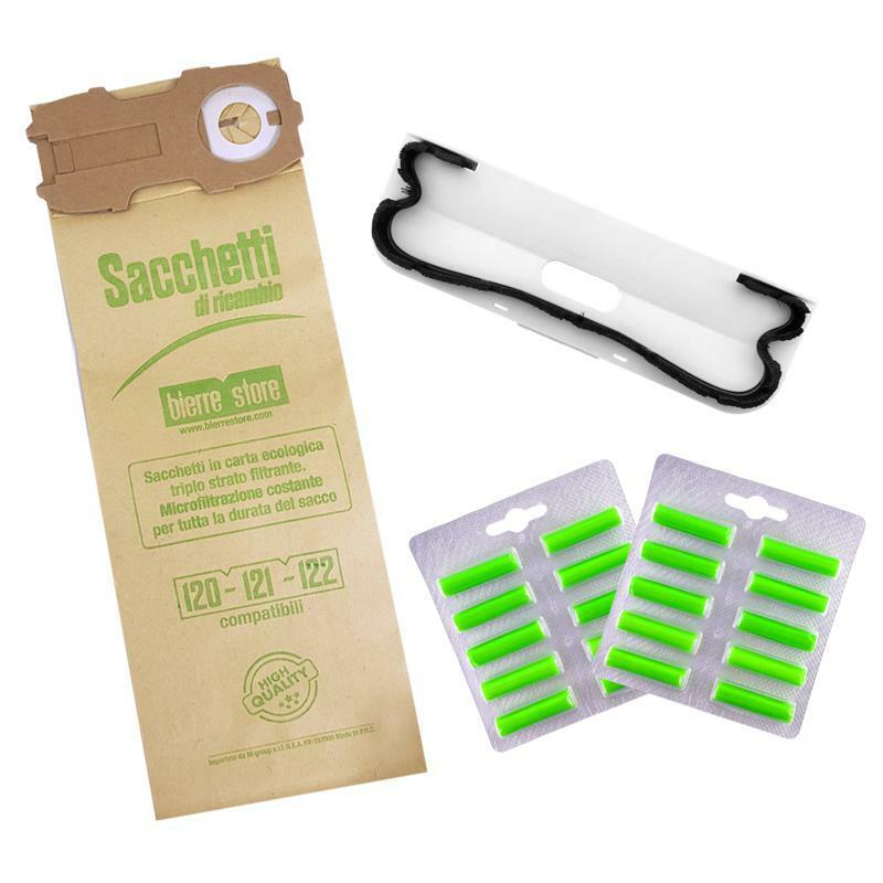 bierre store sacchetti folletto vk 121 vk 122 vk 120 16pz 20 profumi  spazzola setole compatibili
