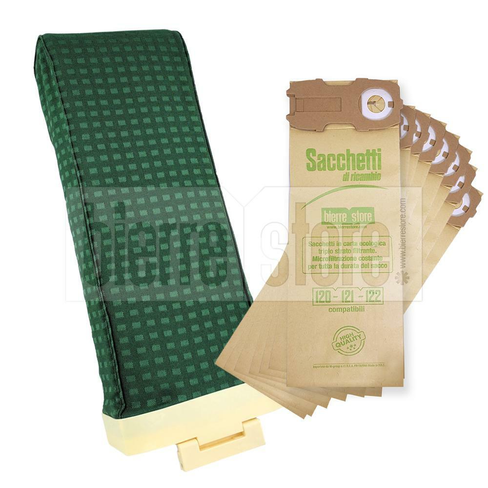 bierre store sacca unita' filtro folletto vk120 8 sacchetti 10 profumi spazzola compatibile