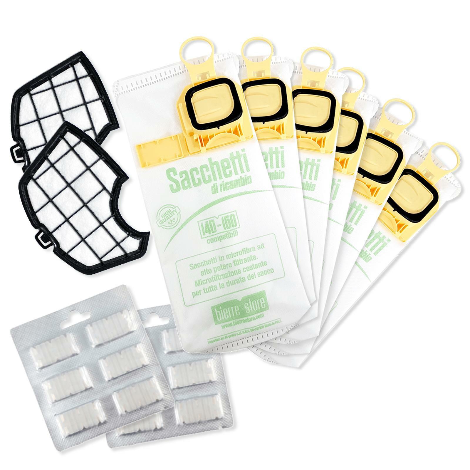 bierre store sacchetti aspirapolvere folletto vk 140 vk 150 12pz profumi filtri spazzola compatibili