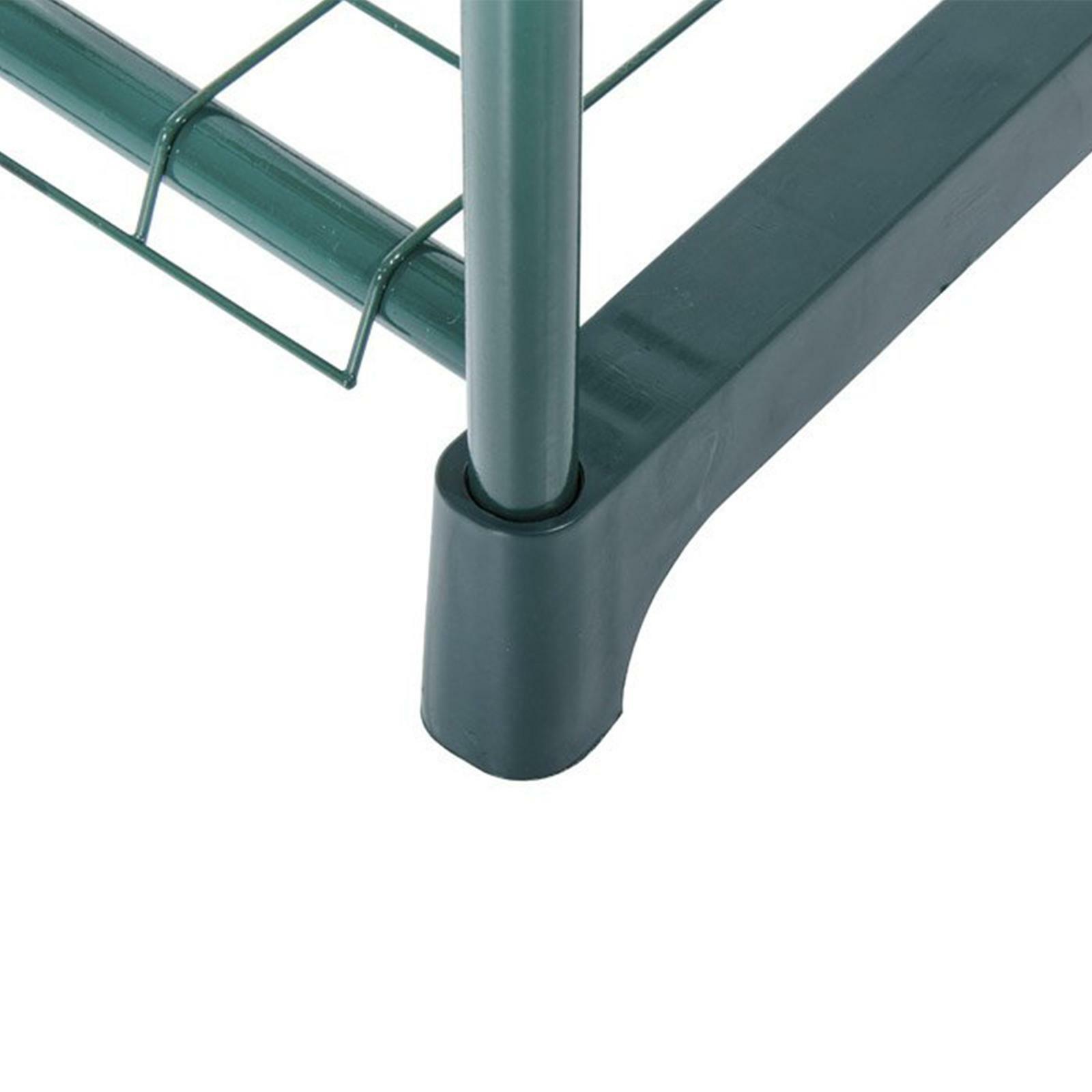 verdelook serra con 2 ripiani con telo in pvc 69x49x95 cm