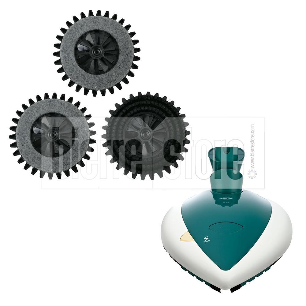 bierre store set spazzole 3pz lucidatrice vorwerk pulilux pl515 mod. panda compatibile