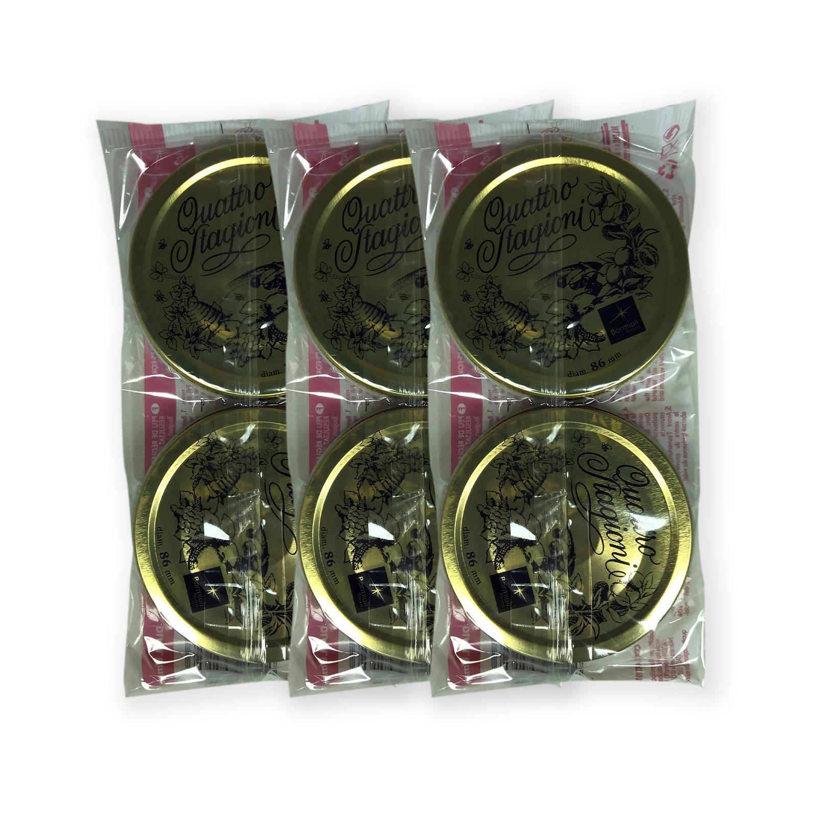 bierrestore tappi vasetti 86mm quattro stagioni in vetro bormioli 6pz