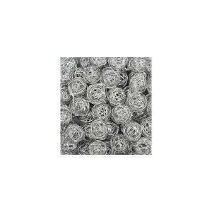 eurosand eurosand sfera filo metallico argento da 50 mm (8 pz)