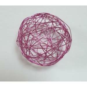 eurosand sfera filo metallico rosa shocking da 50 mm (8 pz)