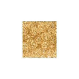 eurosand sfera filo metallico oro bianco da 50 mm (8 pz)