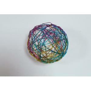 eurosand sfera filo metallico multicolor da 50 mm (8 pz)