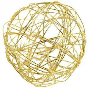 eurosand eurosand sfera filo metallico oro da 80 mm