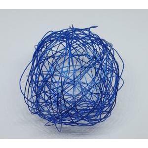 eurosand sfera filo metallico blu da 80 mm