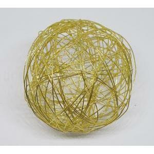 eurosand sfera filo metallico oro bianco da 80 mm