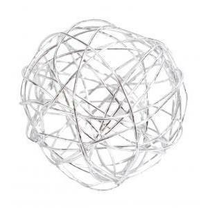 eurosand sfera filo metallico bianco da 80 mm