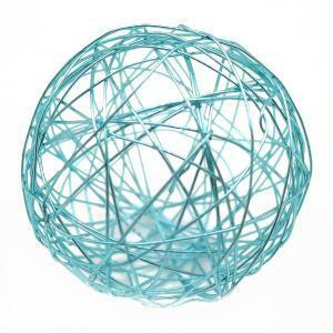 eurosand eurosand sfera filo metallico celeste da 80 mm