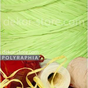 poly raphia (15mm x 200mt) fine serie verde chiaro