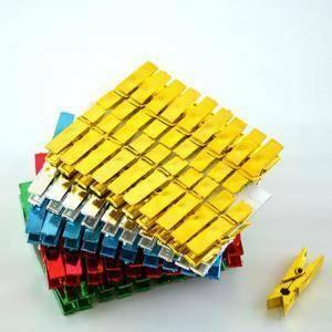 mollette in plastica metallizate 35 mm x 100pz - colori assortiti