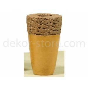 vaso in terracotta 'papkorno' - 23 cm