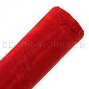 organza rosso - 47 cm x 10 yd