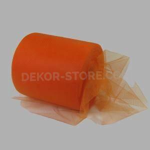 tulle arancio 12,5 cm x 100 mt