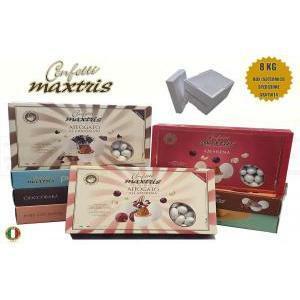 maxtris kit risparmio personalizzato 8 kg - confetti maxtris