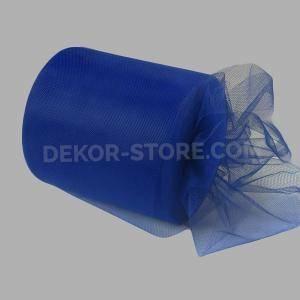 tulle blu scuro 12,5 cm x 100 mt