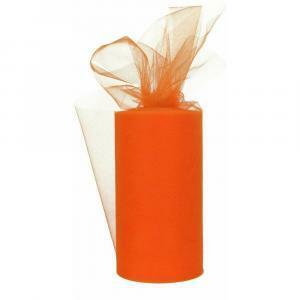 tulle arancio 25 cm x 100 mt