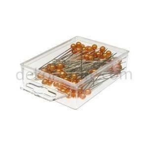 spilli con testa di perla arancio 6 mm x 65 mm - 100 pz.
