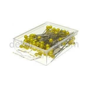 spilli con testa di perla giallo 10 mm x 60 mm - 50pz