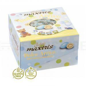 maxtris maxtris dolce arrivo celeste - confetti  (vassoio 500gr)