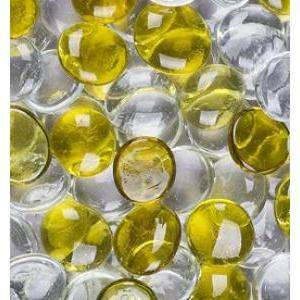 ciottoli decorativi mix colorati trasparente/ giallo 30mm (100ml)