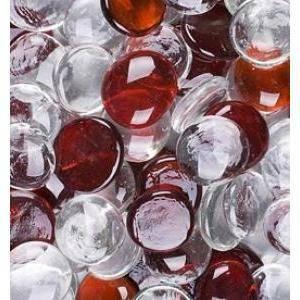 ciottoli decorativi mix colorati trasparente/ rosso 30mm (100ml)