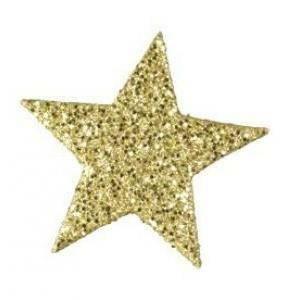 eurosand stelle decorative glitter 60 mm - oro (12 pz)