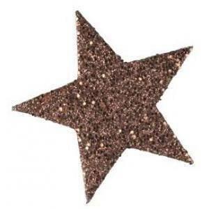 eurosand stelle decorative glitter 60 mm - cappuccino (12 pz)
