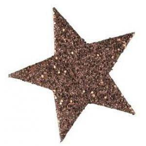 eurosand eurosand stelle decorative glitter 60 mm - cioccolato (12 pz)