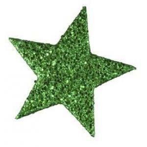 eurosand eurosand stelle decorative glitter 60 mm - verde (12 pz)