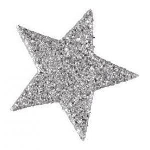 eurosand eurosand stelle decorative glitter 60 mm - argento (12 pz)