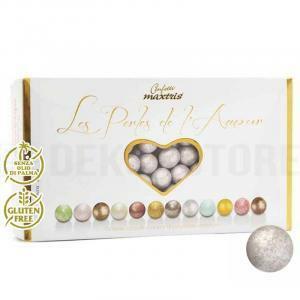 maxtris maxtris les perles de lamour  1 kg argento perlato