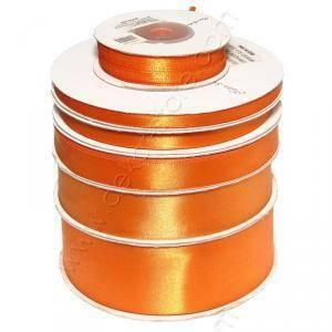 doppio raso 10 mm arancio x 50 mt - satinato