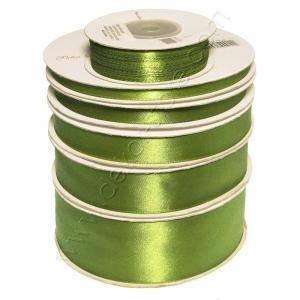 doppio raso 10 mm verde oliva x 50 mt - satinato