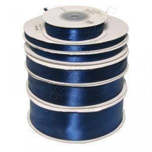 doppio raso 25 mm blu notte x 50 mt - satinato