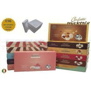 maxtris kit risparmio personalizzato 12 kg - confetti maxtris