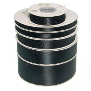 doppio raso 40 mm nero x 50 mt - satinato