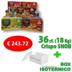crispo kit risparmio crispo 36 confezioni confetti snob da  500 gr. - 18 kg.