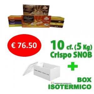 crispo kit risparmio crispo 10 confezioni confetti snob 500 gr. - 5 kg.