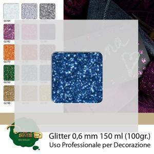 eurosand glitter blu 0,6mm - 100g